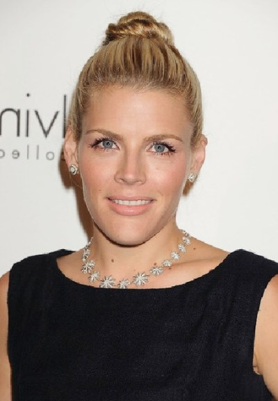 Busy Philipps Twisted Bun Updo