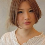 Center Parted Short Japanese Hairstyle