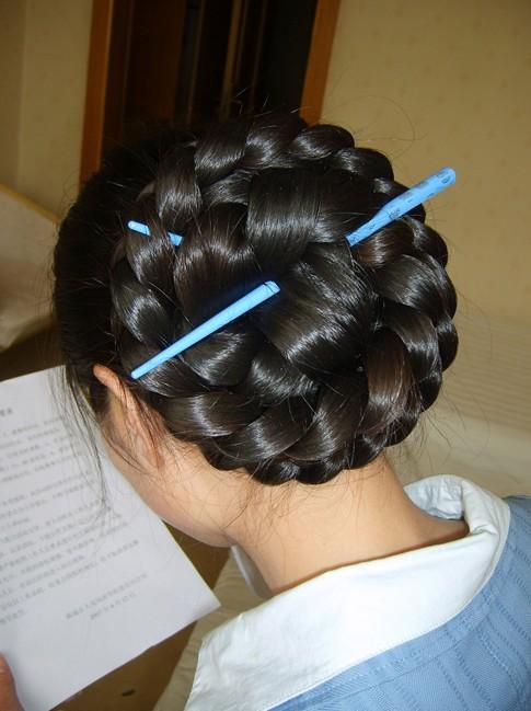 Chinese braided Bun Updo