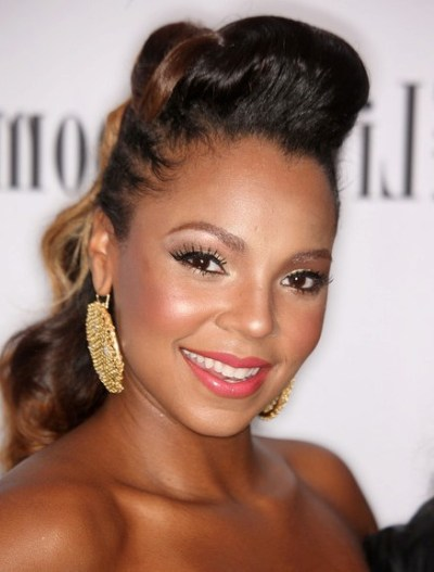 Elegant Africa American Pompadour Hairstyle