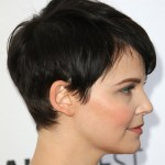 Side view of pixie haircut