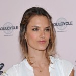Alessandra Ambrosio Cute Messy Updo with Braids