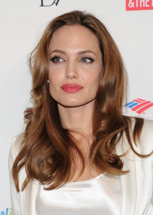 Angelina Jolie Long Hair With Sleek Waves Hairstyles Weekly