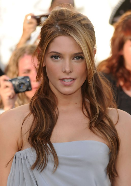 Ashley Greene Elegant Casual Half Up Half Down for Homecoming