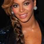 Beyonce Knowles Casual Long Braided Hairstyle