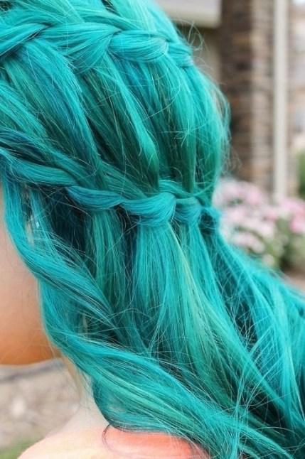 Blue Waterfall Braid Hairstyle