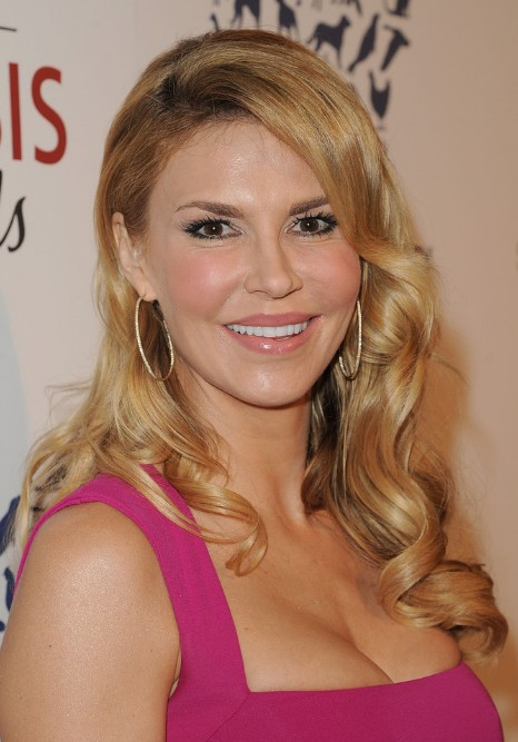 Brandi Glanville Long Sleek Curly Hairstyle with Bangs