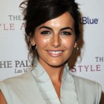 Camilla Belle Updo with Sleek Side Bangs