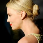 Charlize Theron Sleek low Bun Updo for Long Hair 2013