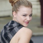 Chloe Moretz Casual Easy Bun Updo Hairstyles