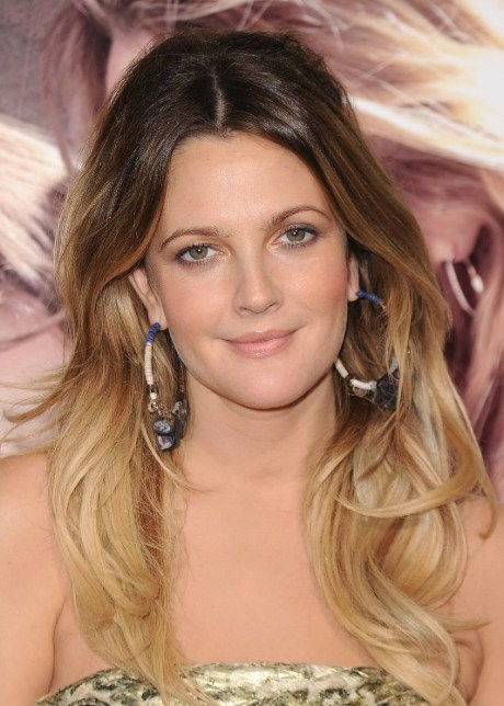 Drew Barrymore Long Ombre Hair