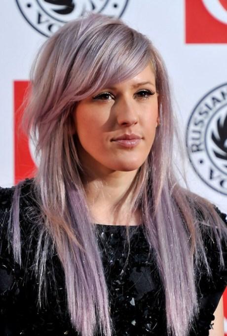 Long Purple Hairstyles for Women