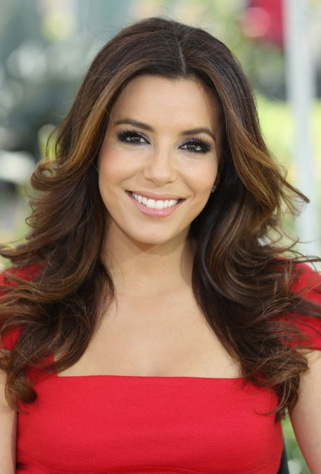 Eva Longoria Beautiful Long Wavy Hairstyles