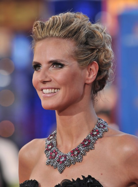 Heidi Klum French Twist Updo Hairstyle 2013 - 2014