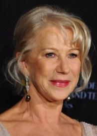 Helen Mirren French Twist Updo for older Women