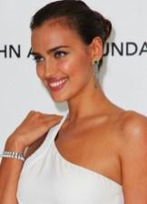 Irina Shayk Tightly Twisted Knot Updo Hairstyle