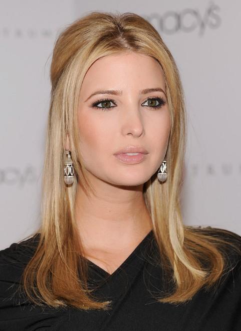 Ivanka Trump Center Parted Long Sleek Blonde Hairstyle
