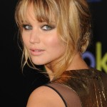 2013 Sexy Casual Loose Bun Updo with Wispy Bangs & Tendrils