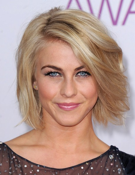 Chic Side Part Bob Hairstyle for Women - Short Hairstyles 2014 - Julianne Hough Haircut