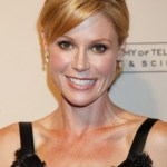 Julie Bowen Casual Bun with Side Swept Bangs