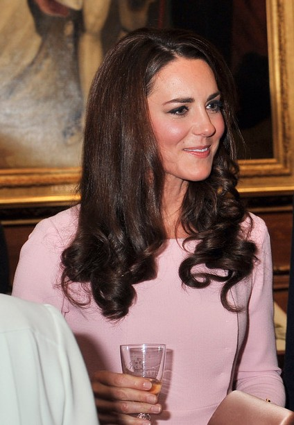 Kate Middleton Long Curly Hairstyle 2013