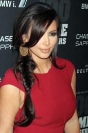 Kim Kardashian Sexy Side Braid