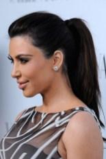 Kim Kardashian Simple Easy Ponytail Hairstyle