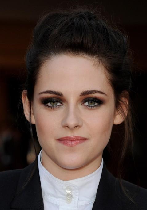 Kristen Stewart Feminine Braided Updo Hairstyle 2013
