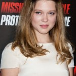 Lea Seydoux Shoulder Length Half Up Half Down Hairstyles