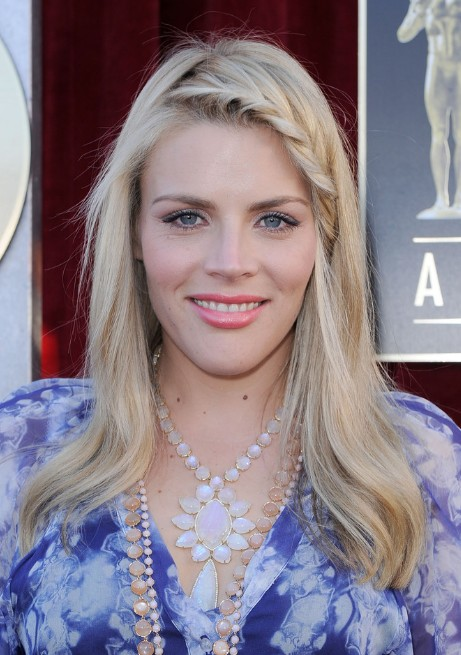 Long Blond Hairstyle With Braided Bangs Busy Philipps