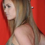 Long Sleek Hairstyle with Braid