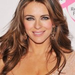 Elizabeth Hurley Long Straight Hair Style with Layers