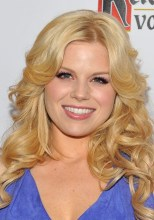 Megan Hilty Long Blonde Loose Curly Hairstyle