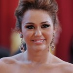 Miley Cyrus Formal Messy Updo for wedding