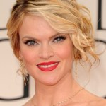 Missi Pyle Messy Updo Hairstyle with Side Bangs 2013