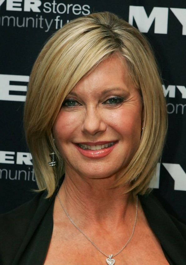 Olivia Newton-John short hairstyle for women over 50s 60s