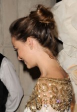 Olivia Wilde Top Knot Updo - Casual Loose Bun Updo Hairstyle