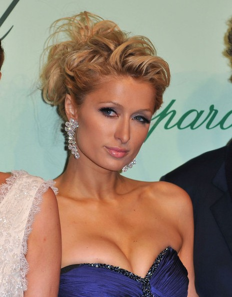 Paris Hilton Messy Twisted Updo