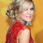 2013 - 2014 Perfect Loose Low Bun Updo from Carrie Underwood