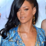 Rihanna Layered Long Black Hairstyle for black women