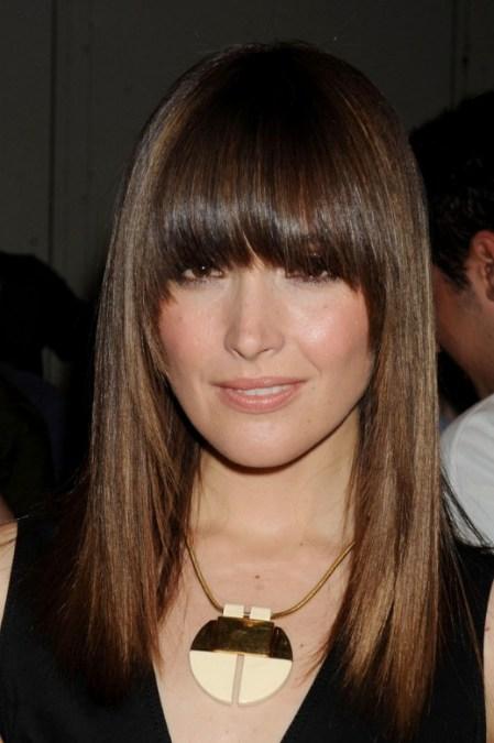 Rose Byrne Long Sleek Hairstyles for 2013