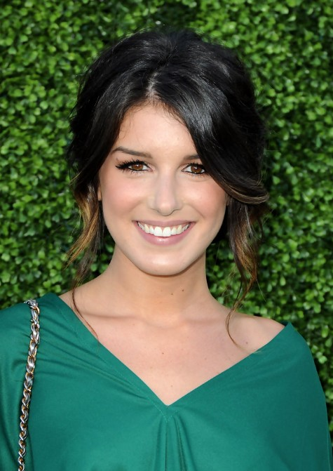 Shenae Grimes Loose Textured Messy Updo