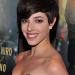 Short layered hairstyle with bangs