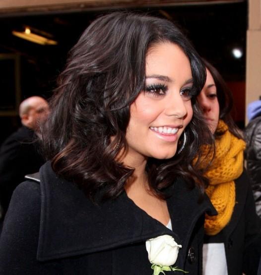 Vanessa Hudgens Latest Wavy Hairstyle