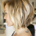 Inverted Bob with Loose Waves - Side View of Bob Cut