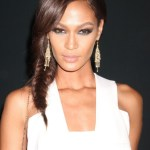 Joan Smalls Inverted French Braid for Long Hair