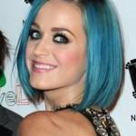 Short blue bob hairstyle