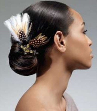 African American Sleek Wedding Hairstyles