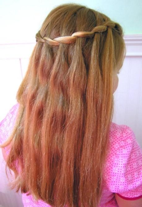 Cute Waterfall Braid Hairstyle for Girls