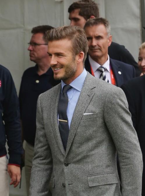 David Beckham Hair Style 2012